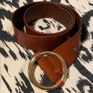 MICHAEL Michael Kors Leather Belt, Small